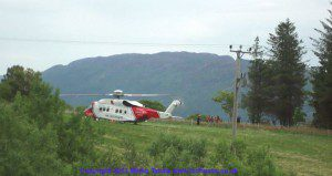 Locals stunned as helicopter lands