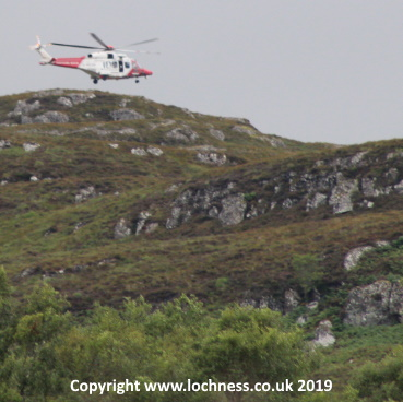 Helicopter searches for Loch Ness Monster