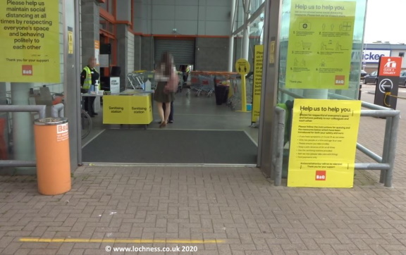 B and Q Inverness 3 June 2020